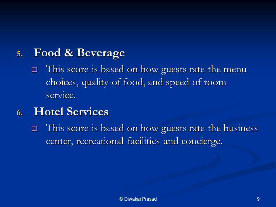 Food & Beverage Hotel Services
