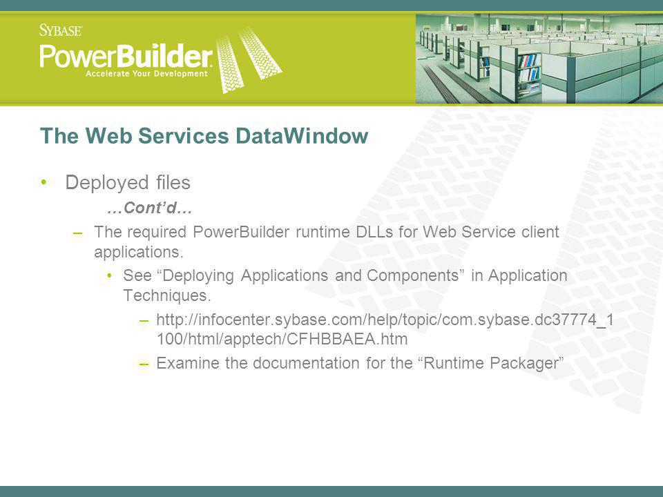 The Web Services DataWindow
