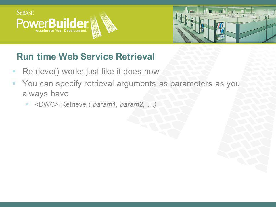Run time Web Service Retrieval