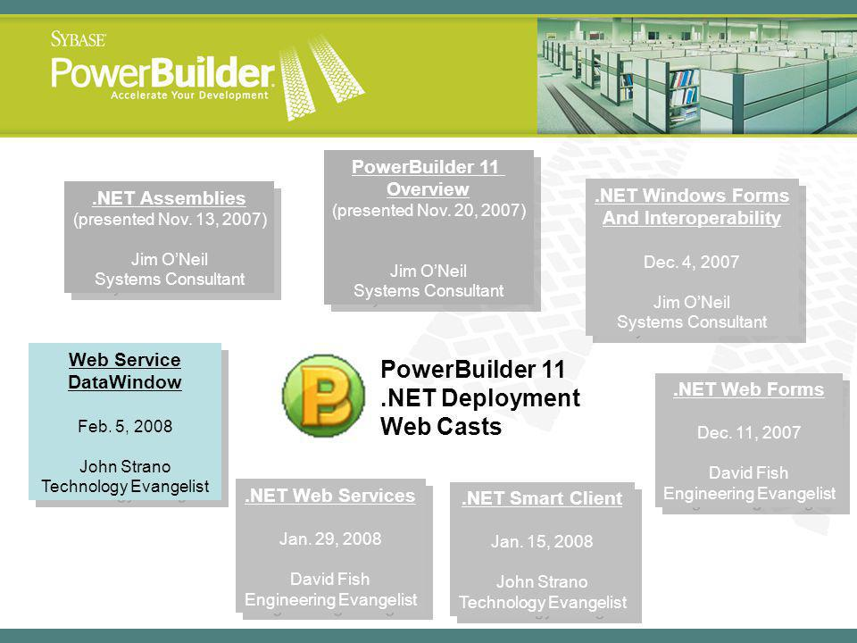 PowerBuilder 11 Overview Web Service DataWindow