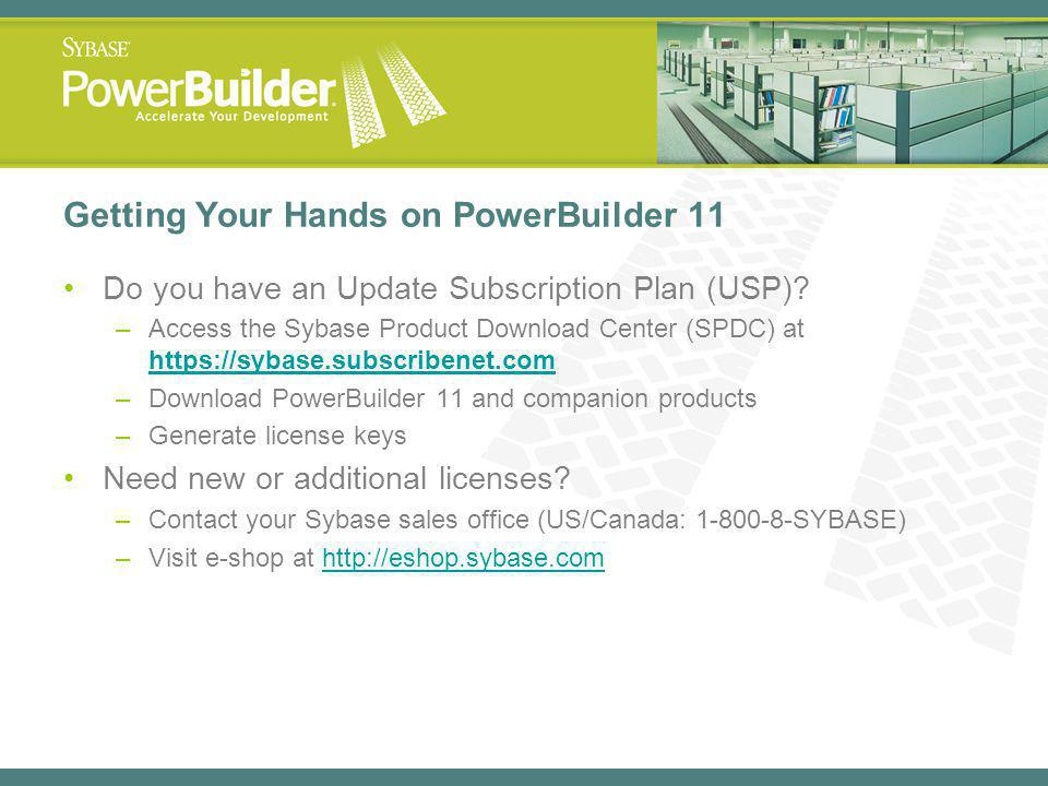 Getting Your Hands on PowerBuilder 11