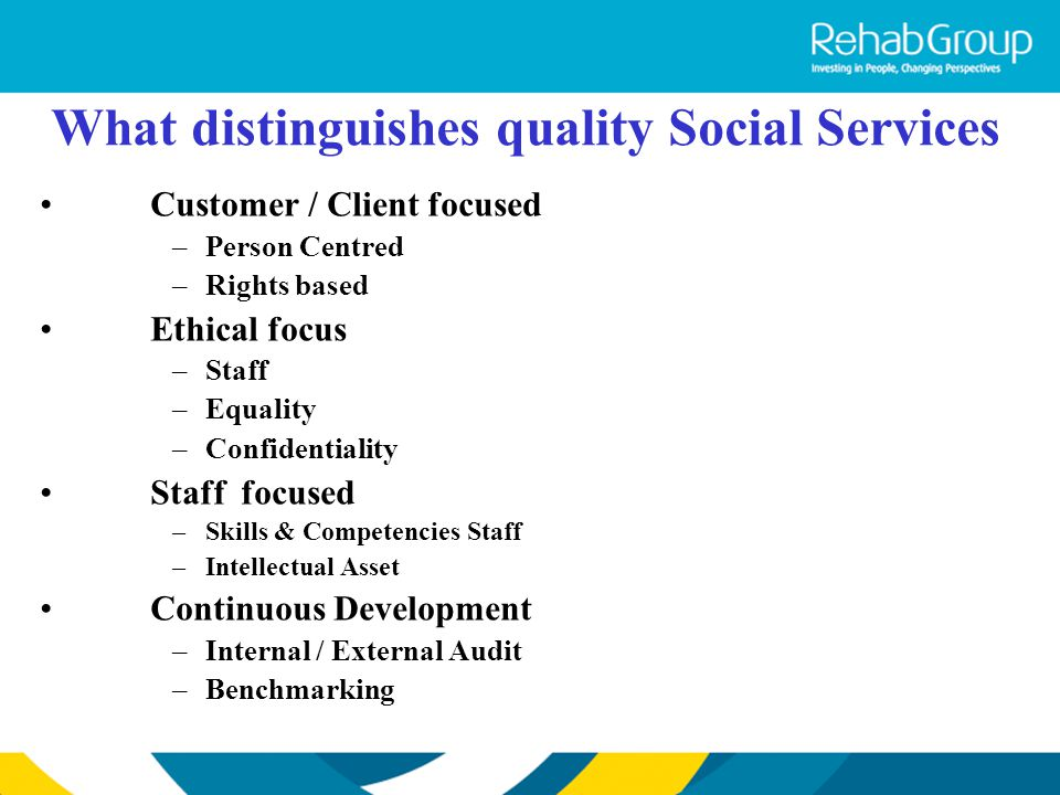 What distinguishes quality Social Services