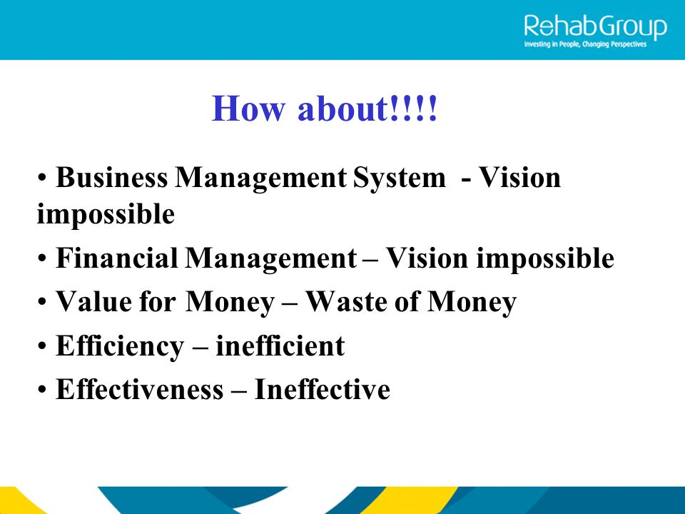 How about!!!! Business Management System - Vision impossible