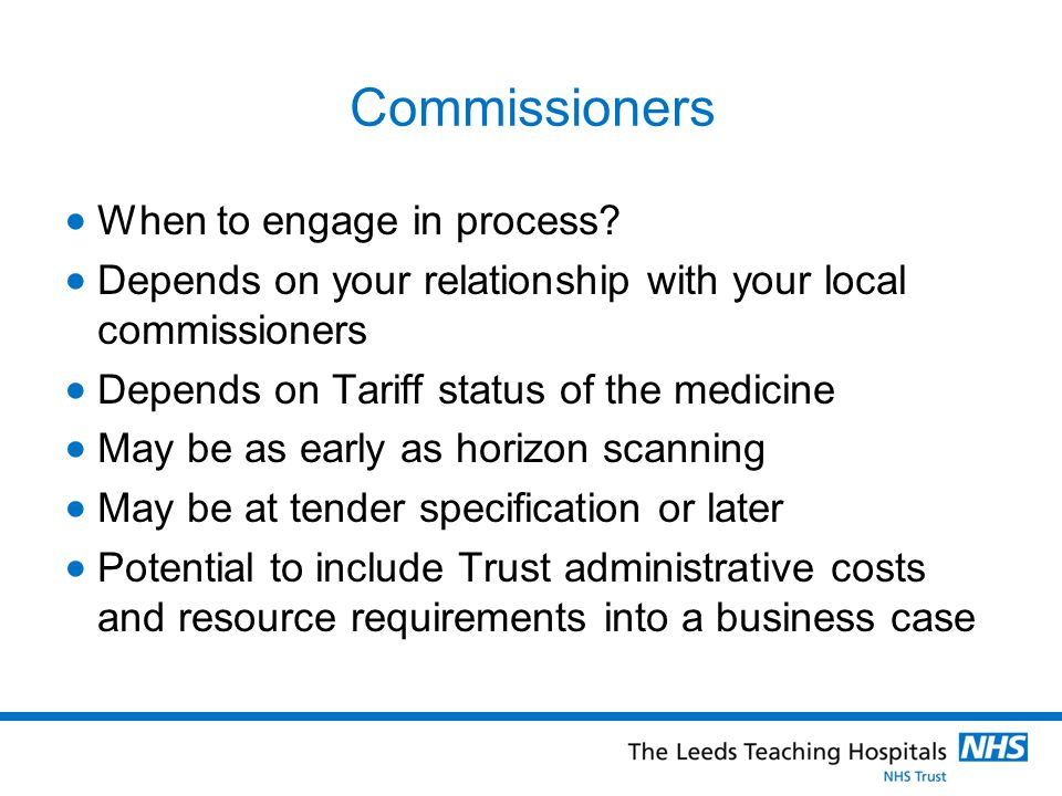 Commissioners When to engage in process