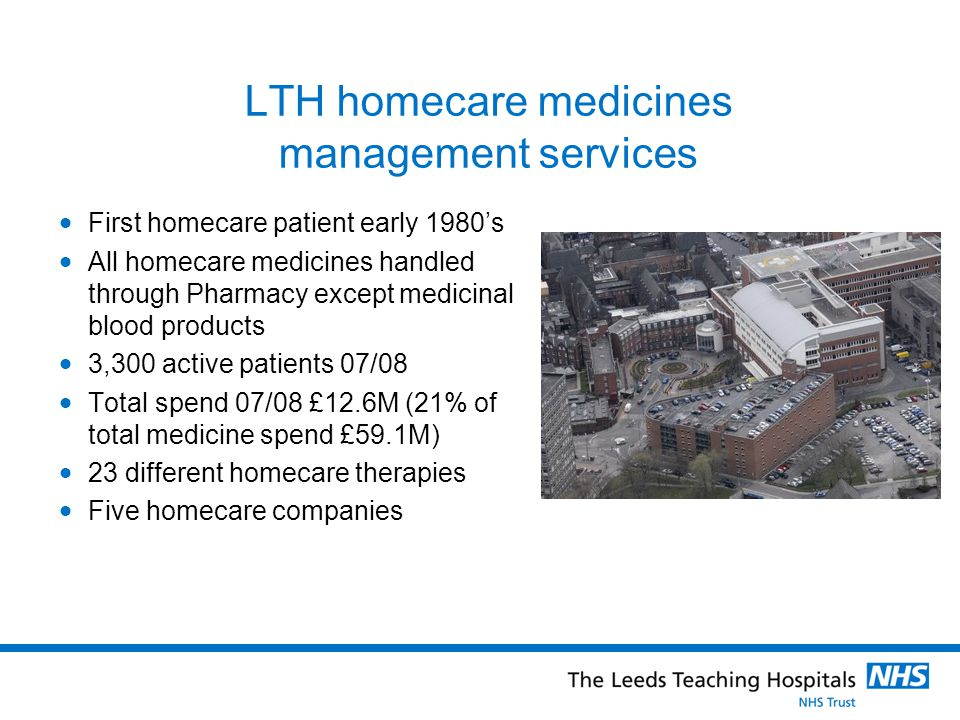 LTH homecare medicines management services