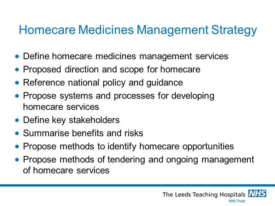 Homecare Medicines Management Strategy