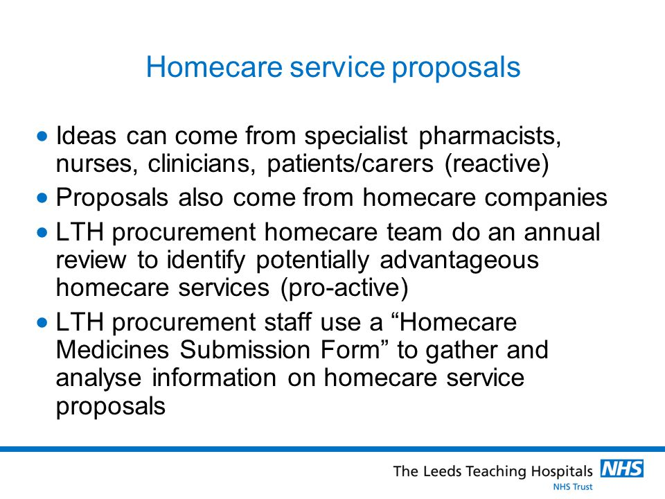 Homecare service proposals