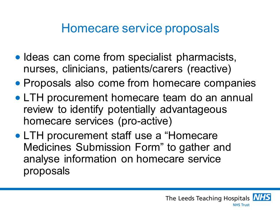 Homecare service proposals