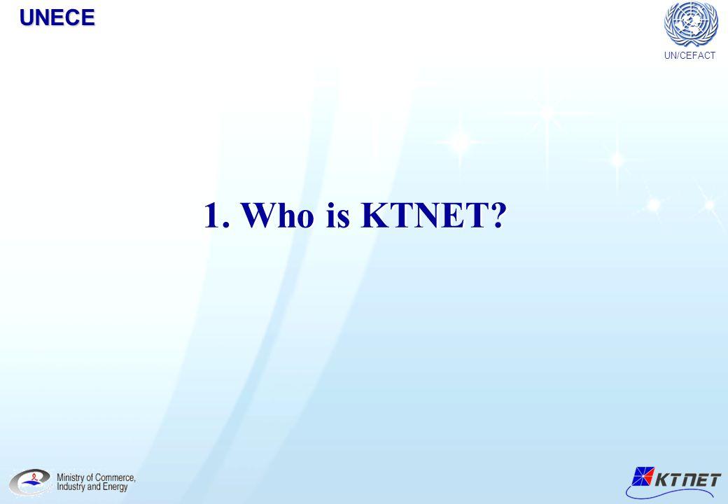 UNECE UN/CEFACT 1. Who is KTNET