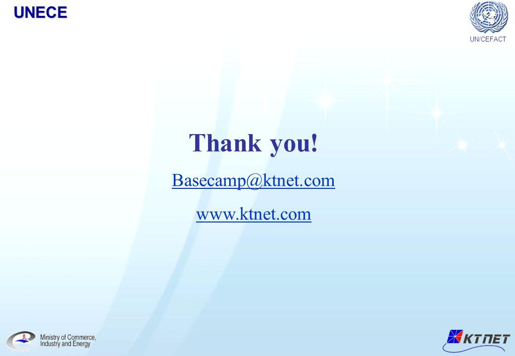 UNECE UN/CEFACT Thank you! Basecamp@ktnet.com www.ktnet.com