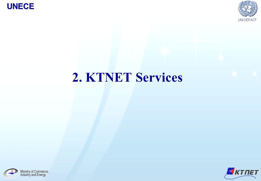 UNECE UN/CEFACT 2. KTNET Services