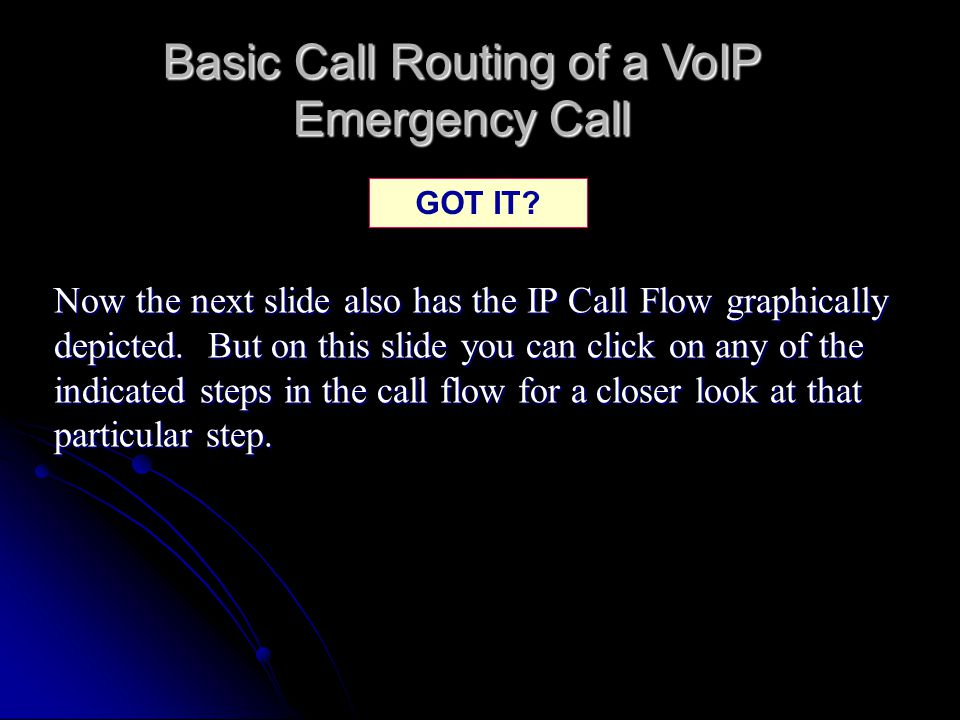Basic Call Routing of a VoIP Emergency Call