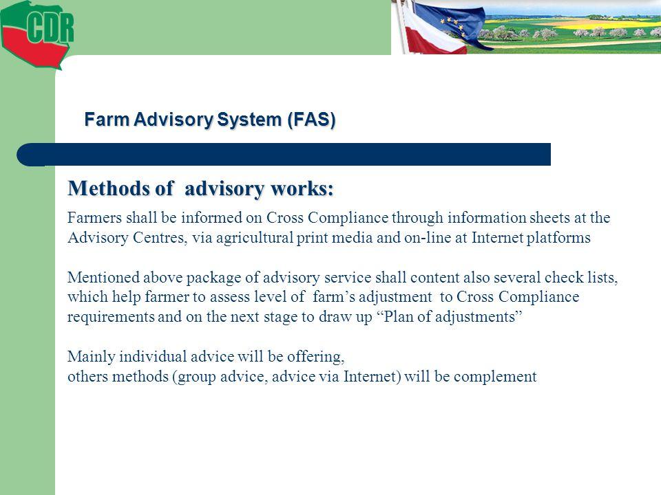 Methods of advisory works: