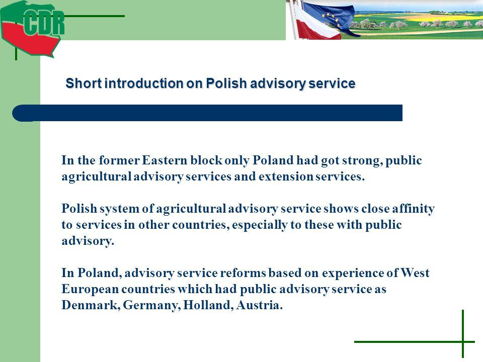 Short introduction on Polish advisory service