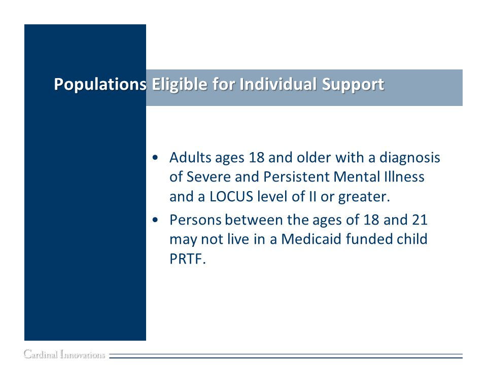 Populations Eligible for Individual Support
