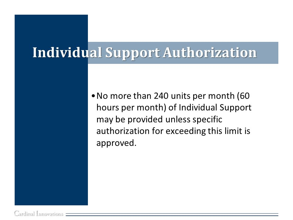 Individual Support Authorization