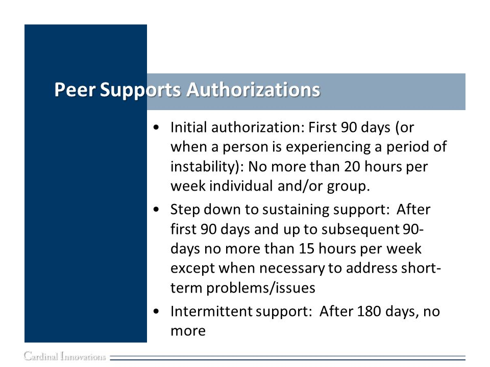 Peer Supports Authorizations