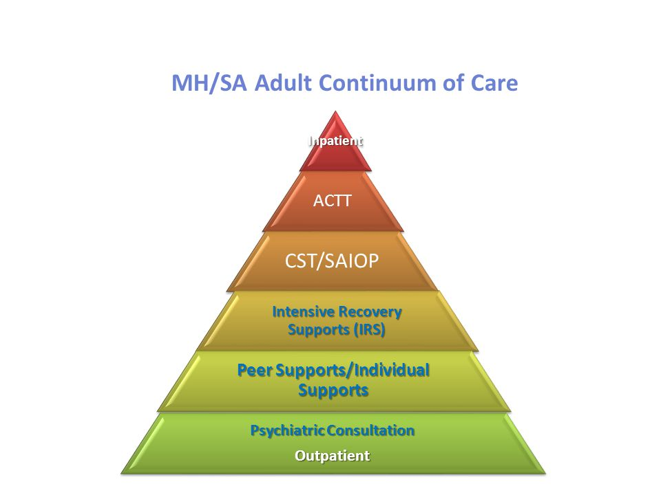 MH/SA Adult Continuum of Care