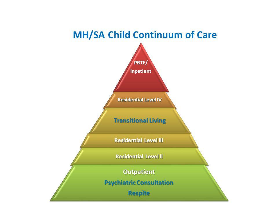 MH/SA Child Continuum of Care