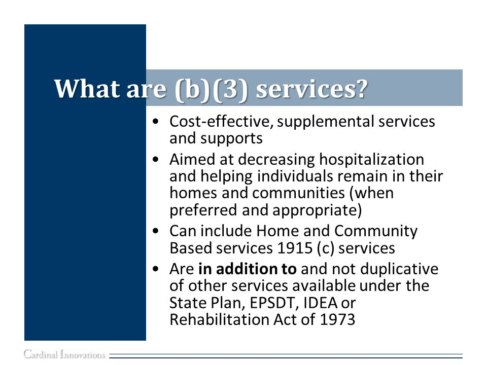 What are (b)(3) services