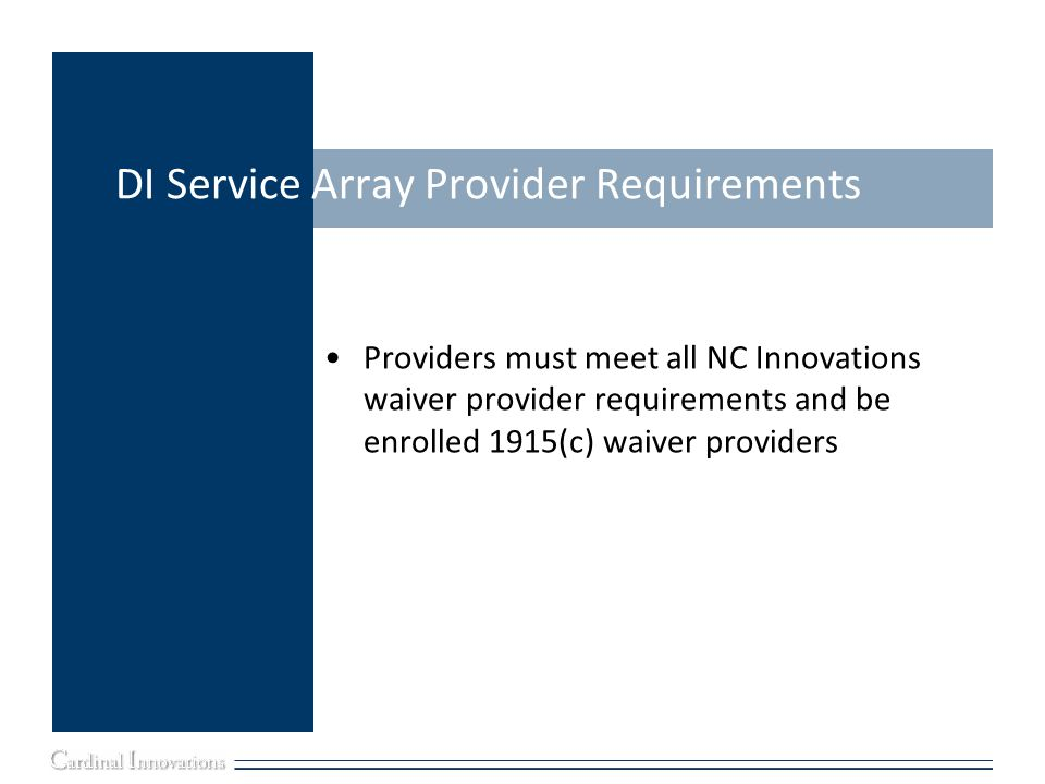 DI Service Array Provider Requirements