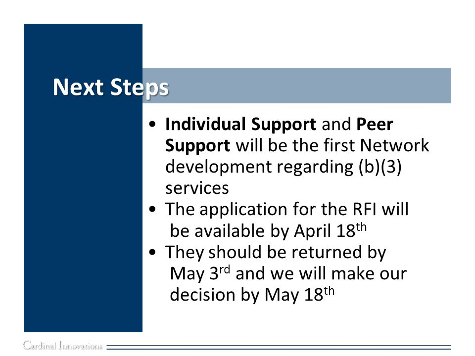 Next Steps Individual Support and Peer