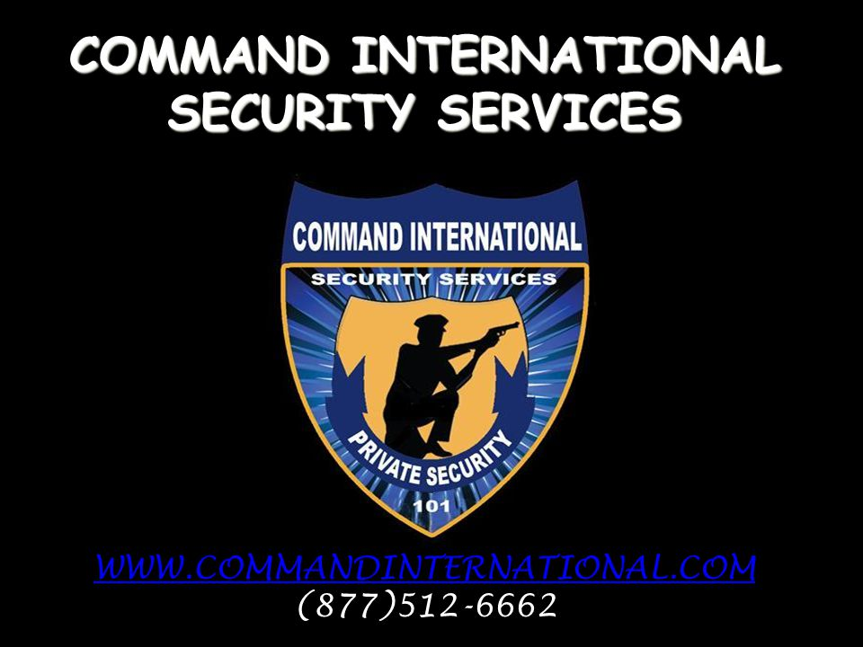 COMMAND INTERNATIONAL SECURITY SERVICES