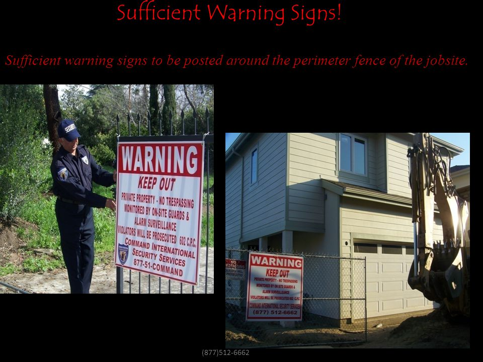 Sufficient Warning Signs!