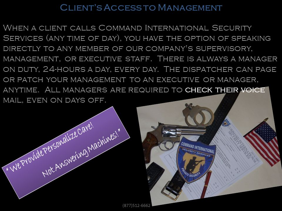 Clients Access To Management!
