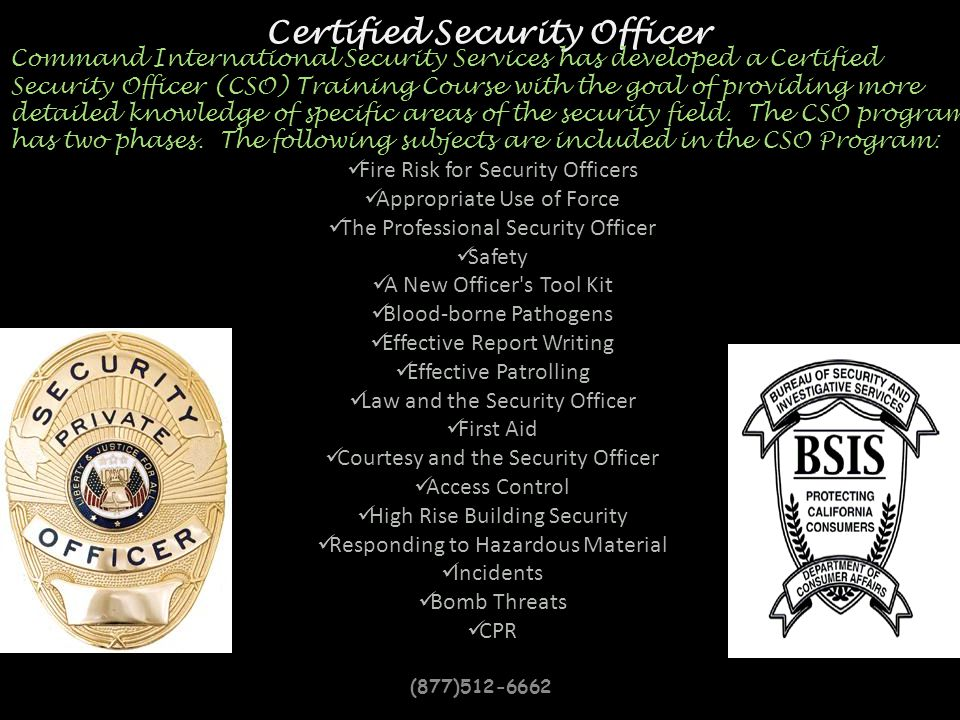 Certified Security Officer