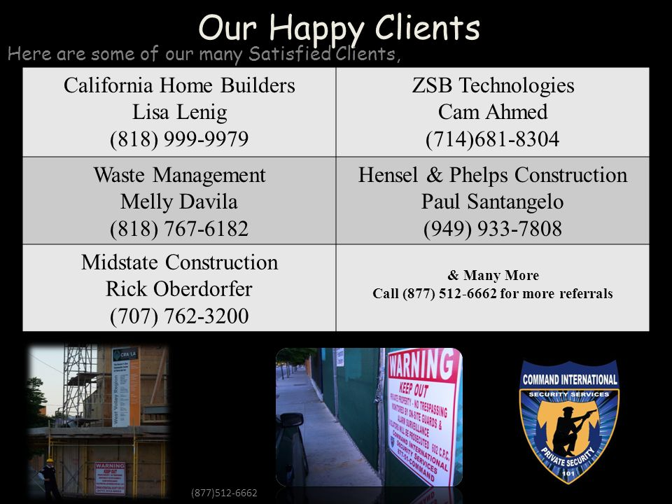 Call (877) 512-6662 for more referrals