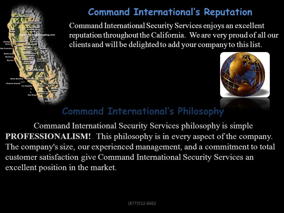 Command International's Reputation & Philosophy!