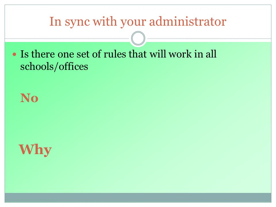 In sync with your administrator