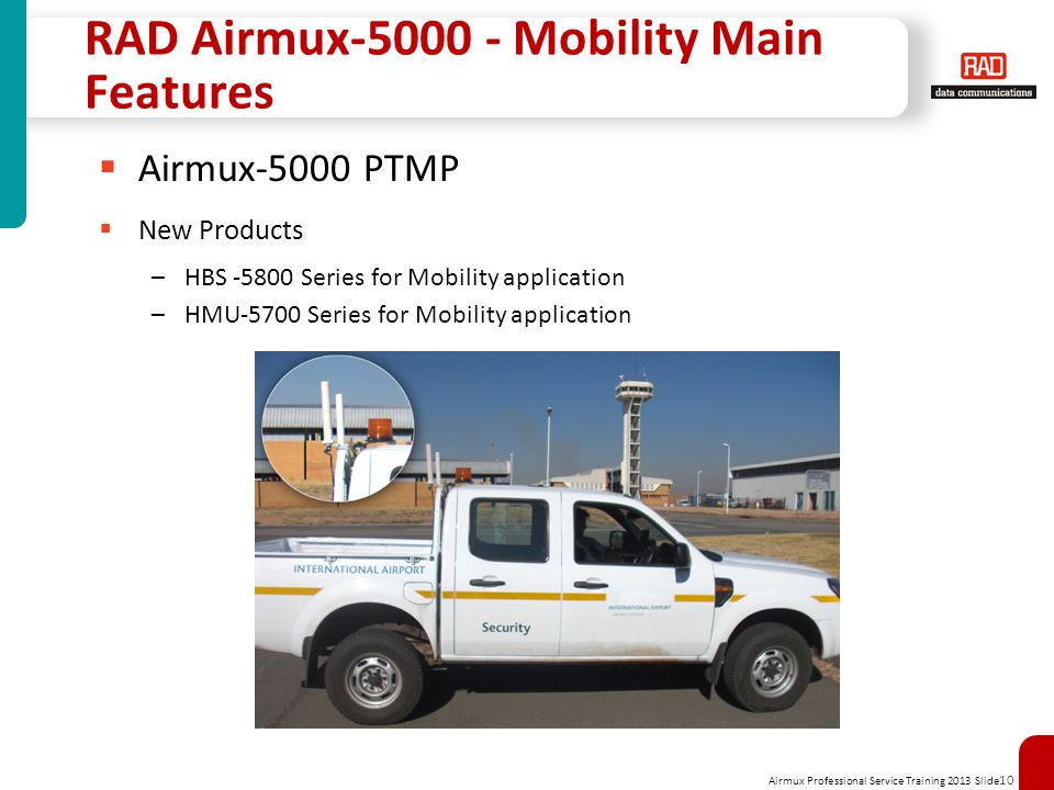 RAD Airmux-5000 - Mobility Main Features