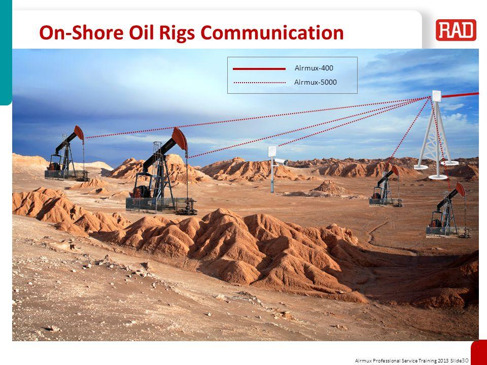 On-Shore Oil Rigs Communication