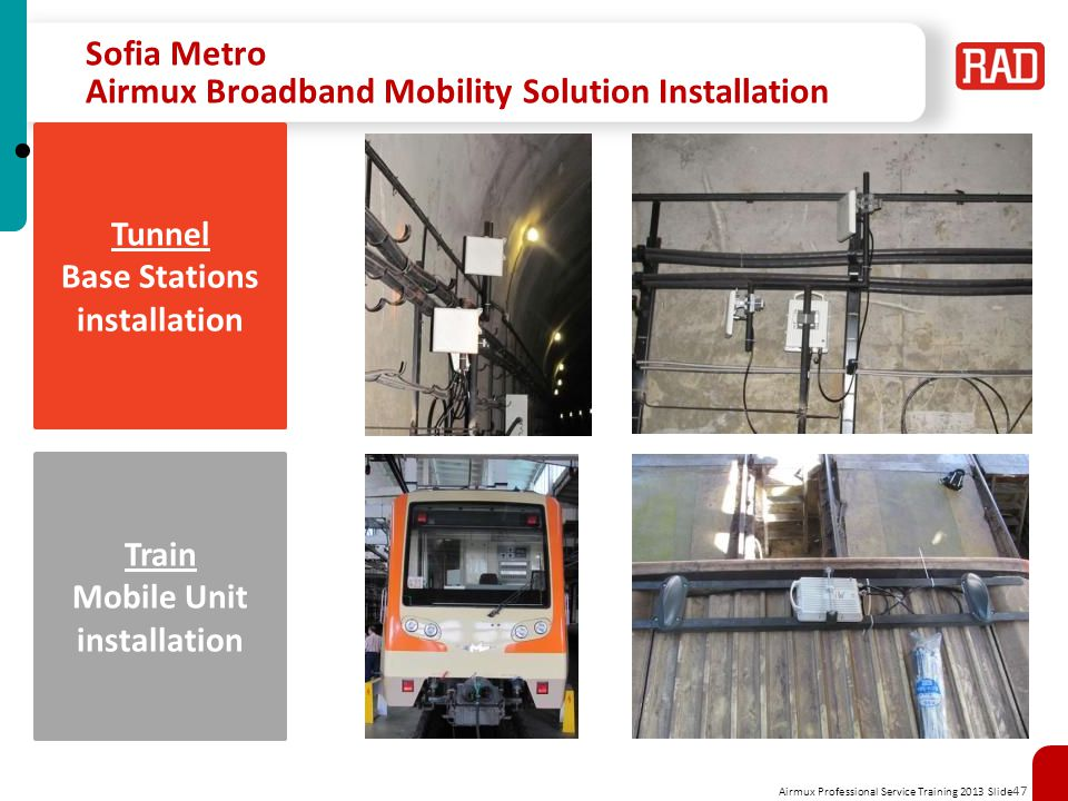 Sofia Metro Airmux Broadband Mobility Solution Installation