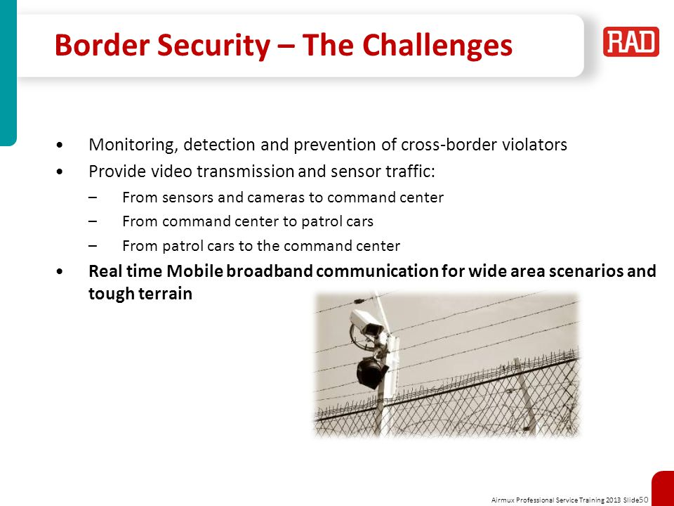 Border Security – The Challenges