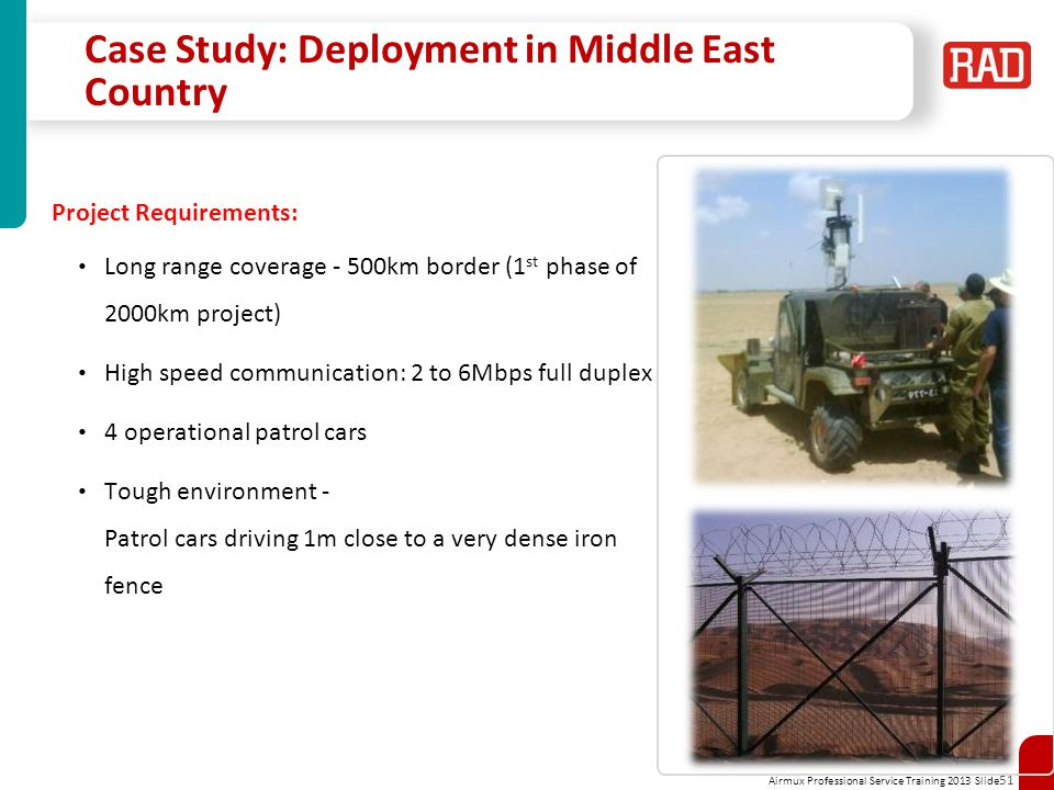 Case Study: Deployment in Middle East Country