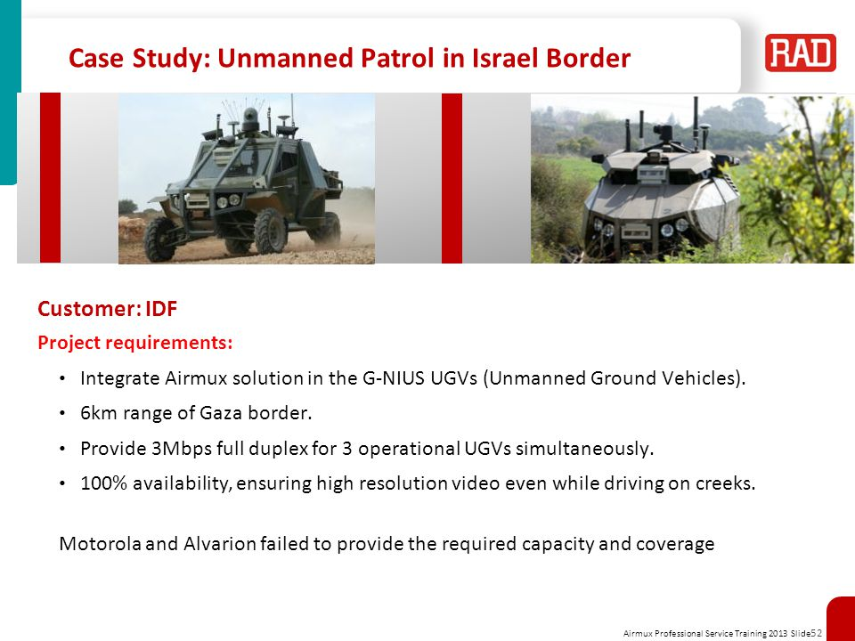 Case Study: Unmanned Patrol in Israel Border