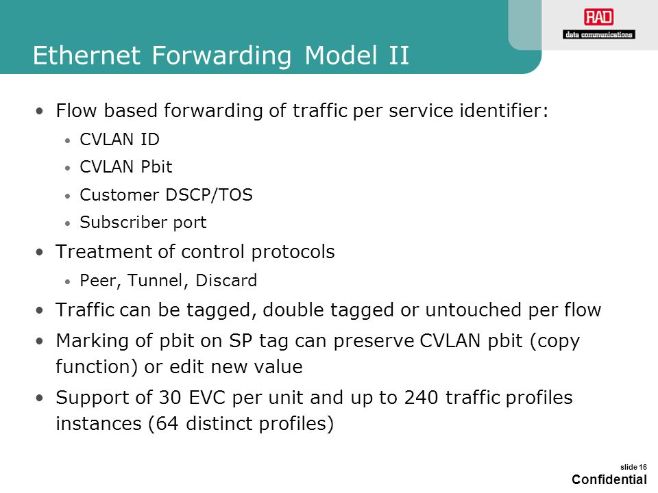 Ethernet Forwarding Model II