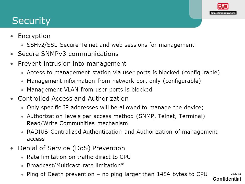 Security Encryption Secure SNMPv3 communications