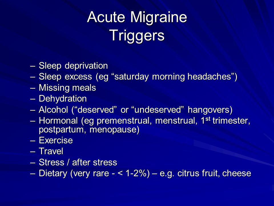 Acute Migraine Triggers