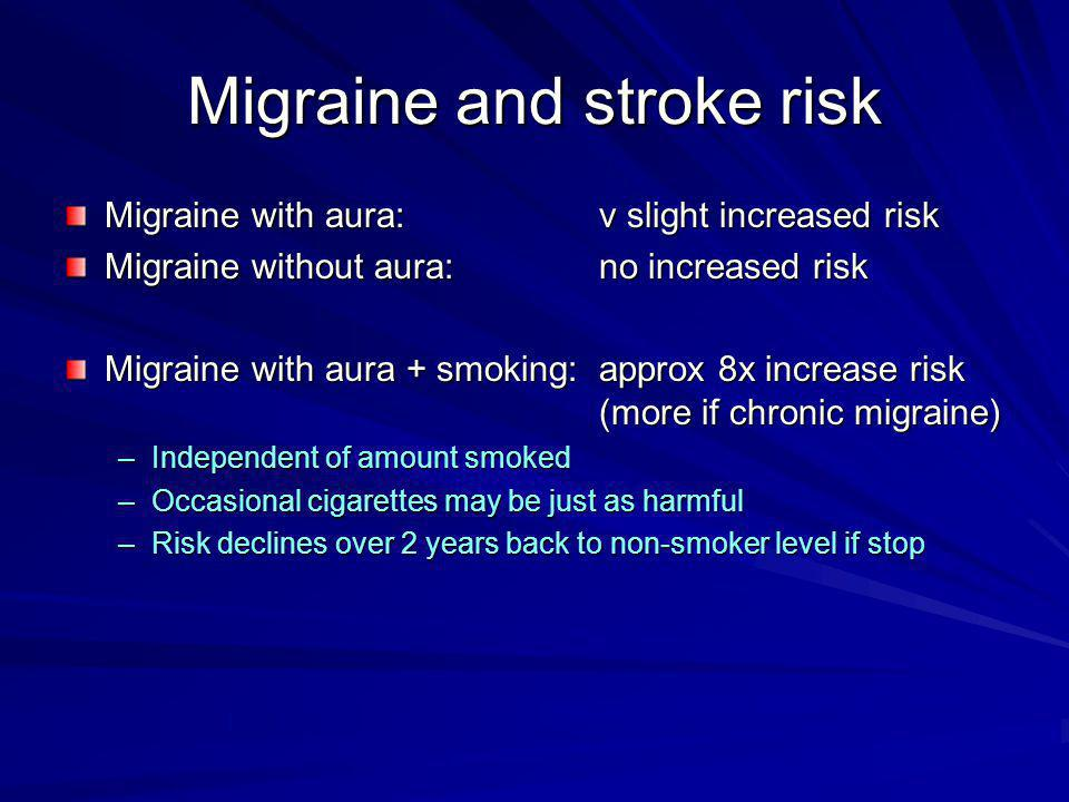 Migraine and stroke risk