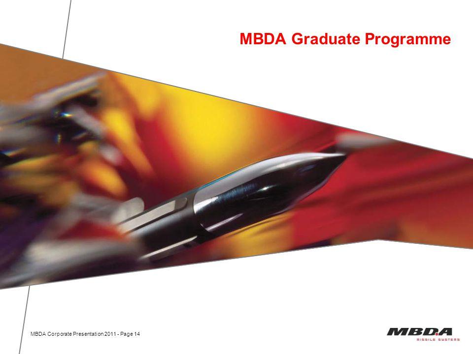 MBDA Graduate Programme