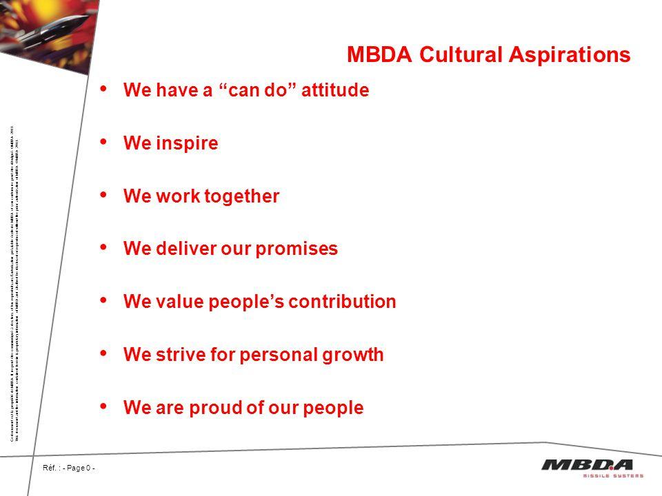 MBDA Cultural Aspirations