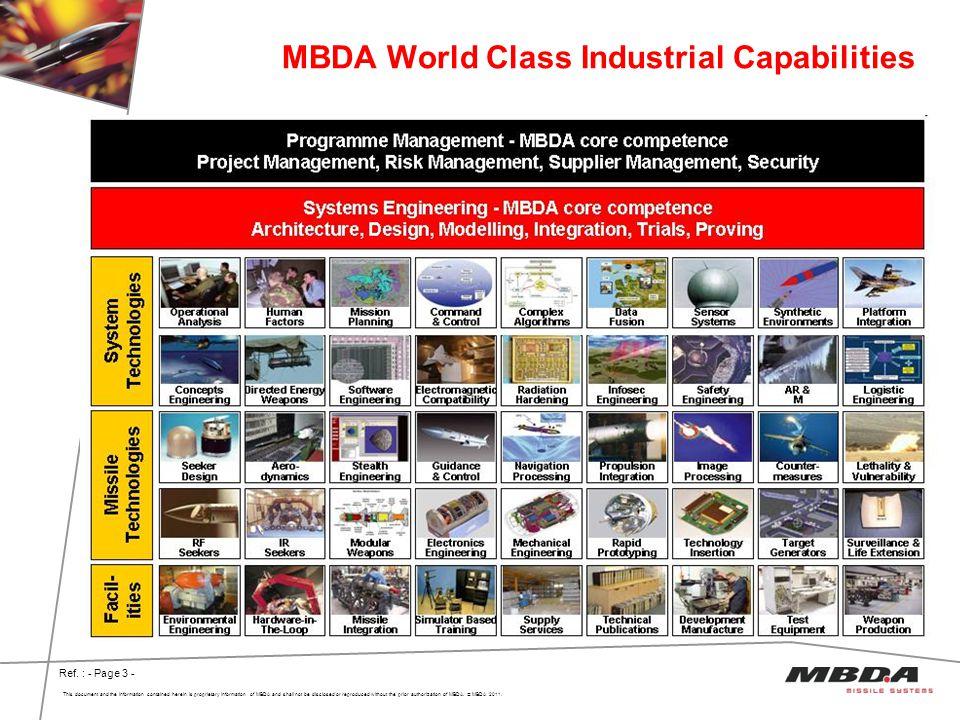 MBDA World Class Industrial Capabilities