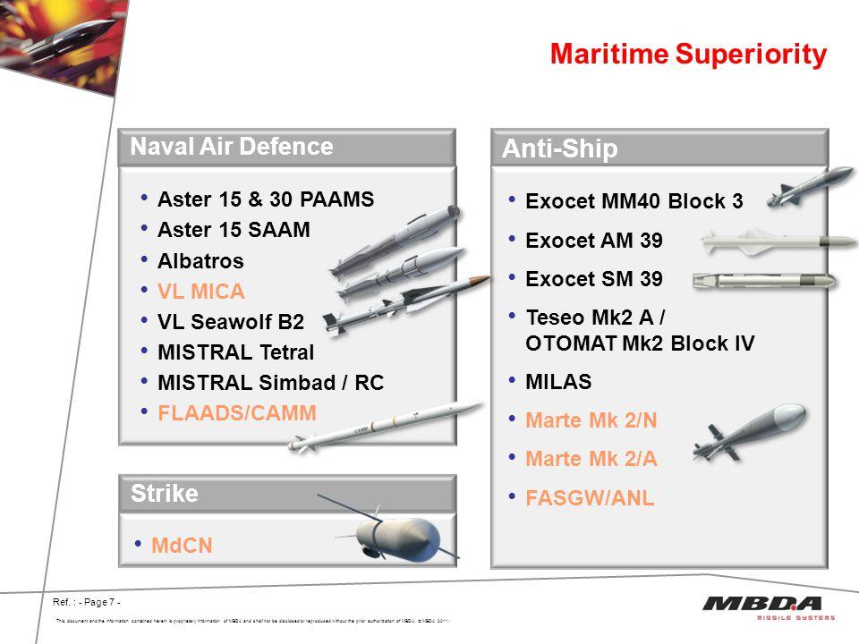Maritime Superiority Anti-Ship Naval Air Defence Strike