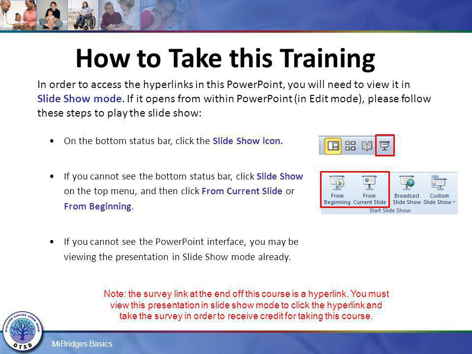 How to Take this Training