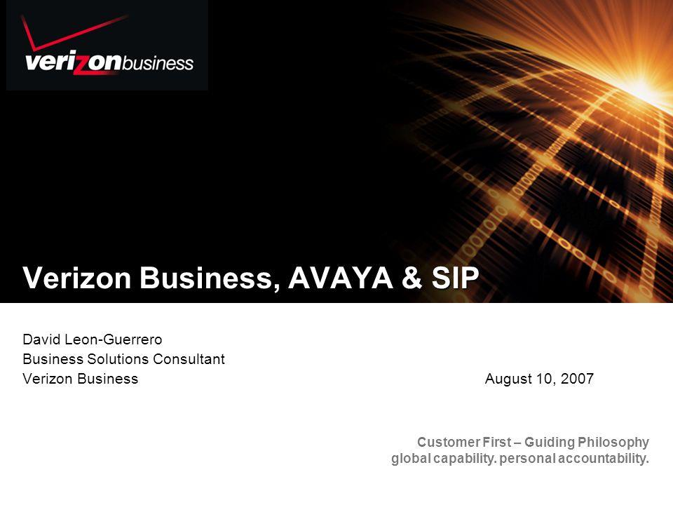 Verizon Business, AVAYA & SIP