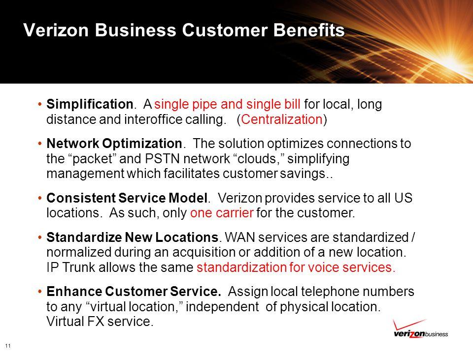 Verizon Business Customer Benefits